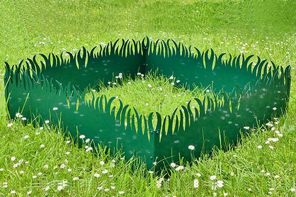 GrassBorder - Vert printemps -  Module carré - 100x100 cm